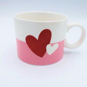 Starbucks Valentine Love Hearts Pink Red White Mug 12oz.